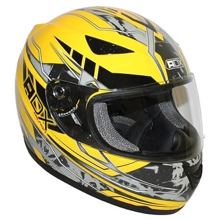 Casque moto intégral ADX XR1 - Jaune / Gris
