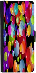 Snoogg Colorful Bubbles 2606 Graphic Snap On Hard Back Leather + Pc Flip Cove...