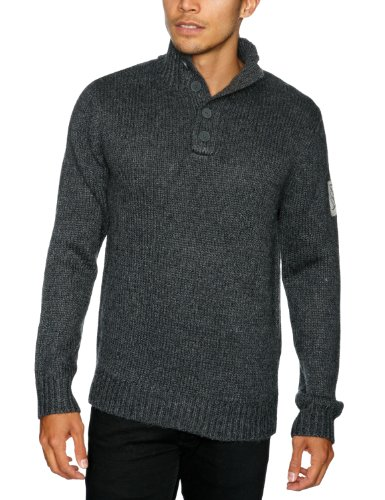 Quiksilver Capped-KPMPU063 Men's Jumper Dark Grey Heath X-Large