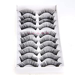 10 Pairs Soft False Eyelash Eyelashes Eye Lashes Makeup Long Thick Brand New