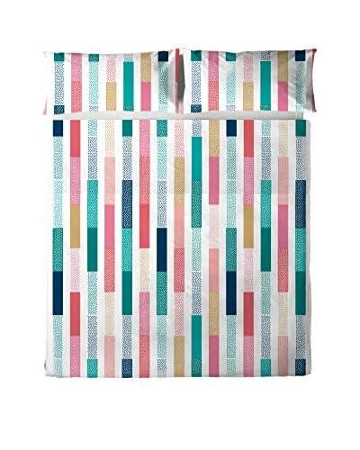 Oh! Juego De Sábanas Blummer Multicolor Cama 90 (160 x 270 cm + 45 x 110 cm)
