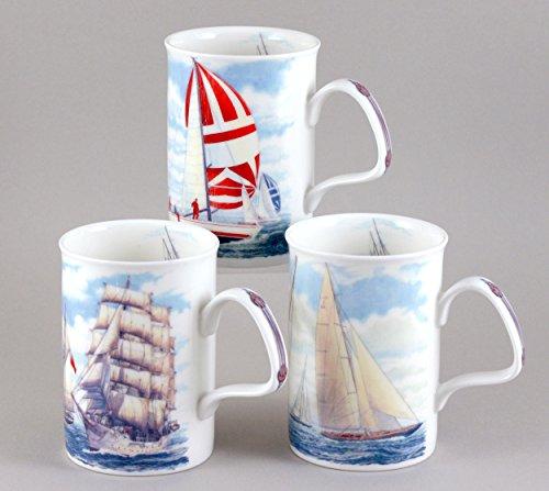 Sail Boat Mug Assortment - Roy Kirkham Set Of 3