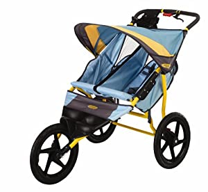 InStep Run Around 2 Double Jogging Stroller (Teal/Dijon)