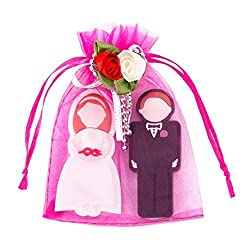 Enfain Wedding Gift USB Flash Drive 16GB (Include a Groom 16GB and Bride 16GB) with Gift Package