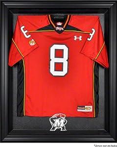 Maryland Terrapins Mahogany Framed Logo Jersey Display Case by Sports Memorabilia