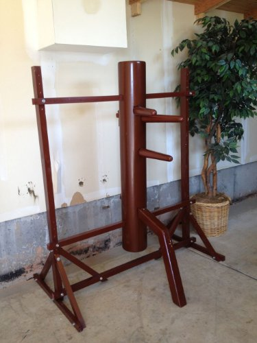 Traditional Ip Man Wing Chun Wooden Dummy with Stand - Free