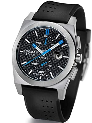 Locman Mens Stealth Chrono Watch Black 202CRBSKBK