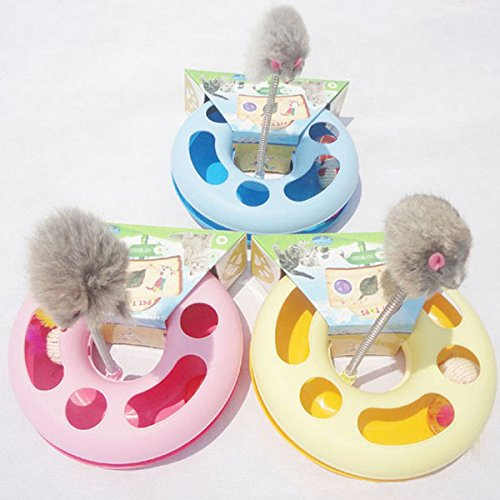 2016 Hot Sale New Creative Pet Kettle Cat Toy Spring Mice Crazy Amusement Disk Multifunctional Disk Play Activity
