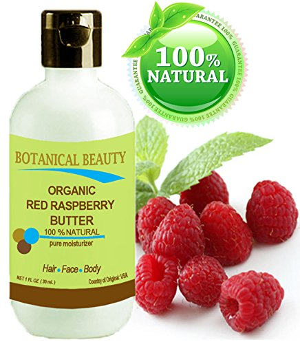 "Red Raspberry Butter Organic 1 Fl.Oz - 30 Ml. 100 % Natural / 100% Pure Botanicals / 100% Pure Moisturizer. For Skin, Body, Hair And Nail Care. ""One Of The Highest Anti-Oxidant Butters, Rich In Vitamin A And E, Omega 3, 6 And 9 Essential Fatty Acids."" By"