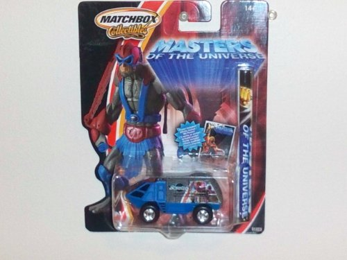 2002 Matchbox Collectibles 1:64 Masters of the Universe Die Cast Vehicle w/ Poster: Stratos Armored Vehicle