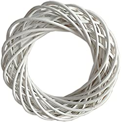 Hill Interiors Circular Willow Wreath (One Size) (White)