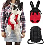 Sunwize Pet Legs Out Front Style Mesh Dog Cat Carrier/bag Nylon Red Backpack-Medium Size