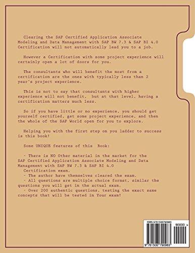 SAP Certified Application Associate  Modeling and Data Management with SAP BW 7.3 & SAP BI 4.0.