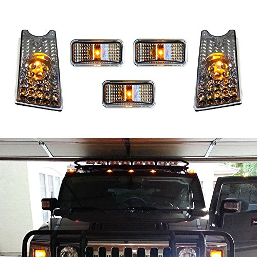 ijdmtoyr-5pc-set-black-smoked-lens-front-cab-roof-top-marker-running-lamps-w-amber-led-lights-for-20