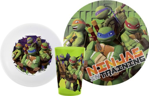 Check Out This Zak Designs Teenage Mutant Ninja Turtle 3-Piece Dinnerware Set