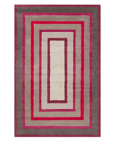 """Filament Adelaide Hand-Tufted Wool Rug, Grey/Pink, 5' x 7' 6"""""""
