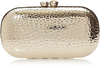 Nine West Collection Minaudiere Clutch, Light Gold, One Size