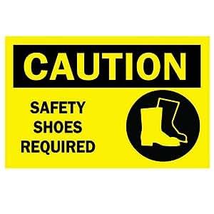 Amazon.com: Brady 39828, B120 14X20 Biling/Caut Safety Shoes Reqd