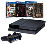 Pack PS4 500 Go + Metal Gear Solid V : The Phantom Pain + Assassin's Creed Syndicate + Steelbook + GTA V