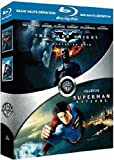 echange, troc The Dark Knight, le chevalier noir - Superman Returns : coffret 2 Blu-ray [Blu-ray]