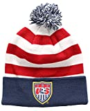 U.S. Soccer Football Official Merchandise Men's USA Ski Hat Peruvian Pompom Beanie