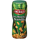 Emerald Dry Roast Peanuts, 12-Ounce Canisters (Pack of 12) ~ Emerald