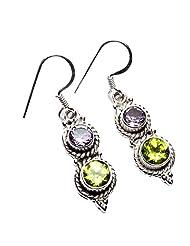 Admyro 2015 Designer Earring-925 Silver Earring-Netural Gemstone Earring-Latest Design Earring-Partywaer Earring-AZE982