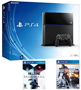 Playstation 4 Bundle with a PS4 Console, Killzone Shadow Fall & Battlefield 4 PS4