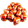 Chocolate Foil Balls - Football, 5 lb bag