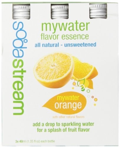 SodaStream MyWater Orange Syrup, 40mL, 3-Pack (Sodastream Syrup Natural compare prices)