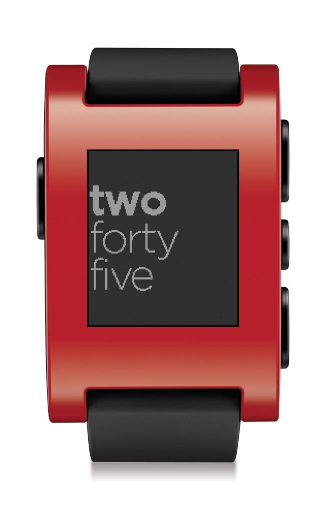 Pebble Smart Watch for iPhone and Android Devices (Red)+ Free $20 Amazon Gift Card