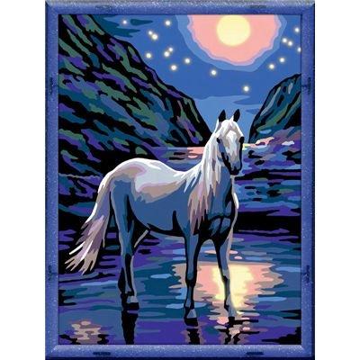 Imagen principal de Ravensburger 28157 - Set de pintura por números de Caballo en la noche (18 x 24 cm) [Importado de Alemania]