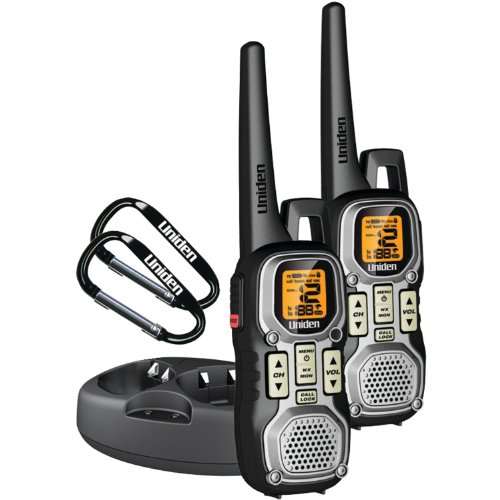 Uniden Weather Resistant 40-Mile 22-Channel FRS/GMRS Two-Way Radios with Glow Buttons and 2 Headsets - Grey (GMR4040-2CKHS)