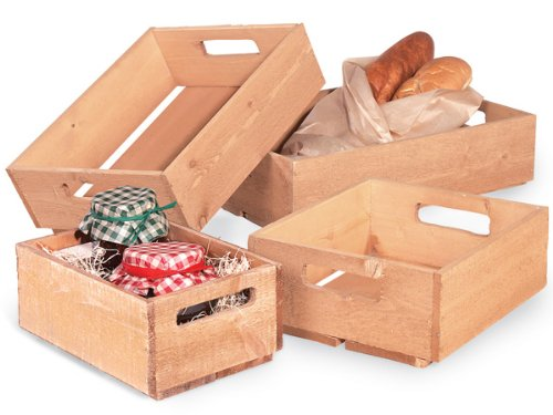Wooden Crate AssortmentSouthern Pine Includes 4 sizes (1 unit, 4 pack per unit.)