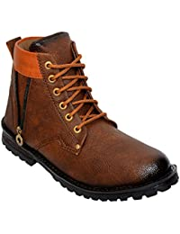 Desi Juta New Latest Fashion Bote Zip Stylish Boots LaceUp Shoes For Men/Mens/Men's