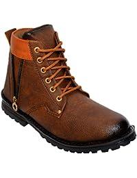 Desi Juta New Latest Fashion Bote Zip Stylish Boots LaceUp Shoes For Men/Mens/Men's