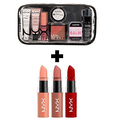 NYX Tricks of the Trade Travel Kit & Bombshell Butter Lipstick Set