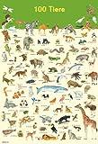 Mein Lernposter: 100 Tiere