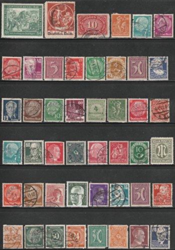 1900s-deutsche-post-german-cancelled-postage-stamps