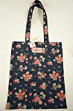 Cath Kidston NEW Cotton Book Bag Daisy Rose Floral in Navy