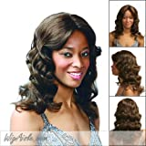 HM-TYRA (Motown Tress) - Human Hair Mono Front Full Wig in DARK BROWN