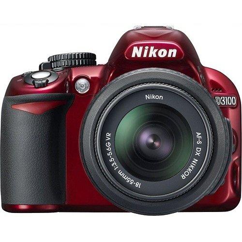Nikon-D3100-Digital-SLR-Camera-18-55mm-G-VR-DX-AF-S-Zoom-Lens-Red