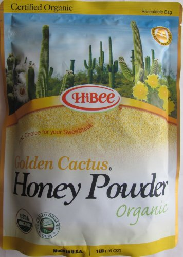Hibee Golden Cactus Honey Powder Organic, 16 Ounce Units (Pack of 3)
