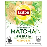 Lipton Green Tea Bags, Matcha Green Tea & Ginger 15 ct (Pack of 4)