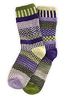 Solmate Orchid Mismatched USA made Socks
