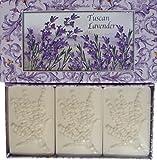Saponificio Artigianale Fiorentino Tuscan Lavender 3 x 4.40 Oz Boxed Soap Set Made in Italy All Natural