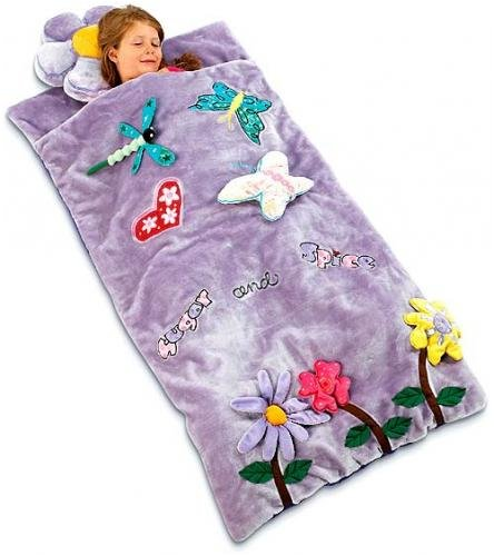 More image Sugar and Spice Plush Girls Sleeping Bag