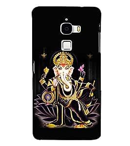 Fuson Premium Sri Ganesha Printed Hard Plastic Back Case Cover for LeEco Le Max
