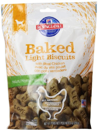 hills-science-diet-baked-light-biscuits-with-real-chicken-medium-dog-treats-9-ounce-pouch