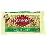 Diamond Nuts of California Walnut Chips, 6 Ounce